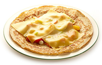 Farmer's pancake, bacon/onion/vegetables/cheese